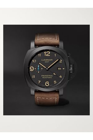 PANERAI Men Watches - Luminor 1950 3 Days GMT Automatic 44mm Ceramic and Leather Watch, Ref. No. PAM01441