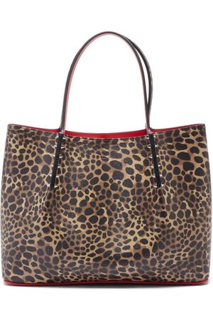 Christian Louboutin Women Handbags - Cabarock Small Leopard-print Leather Tote Bag - Womens - Leopard