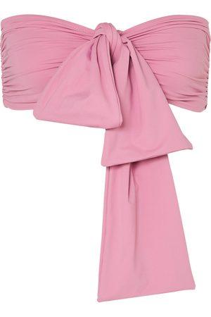 BONDI BORN Woman Neve Tie-front Bikini Top Size 10