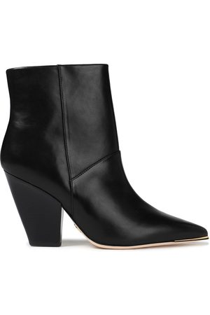 TORY BURCH Woman Lila Leather Ankle Boots Size 10