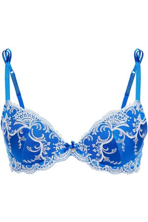 LISE CHARMEL Woman Splendeur Soie Embellished Embroidered Satin Underwired Bra Bright Size 85 A