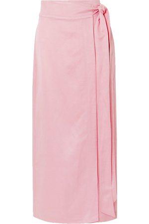 BONDI BORN Woman Woven Wrap Maxi Skirt Baby Size M