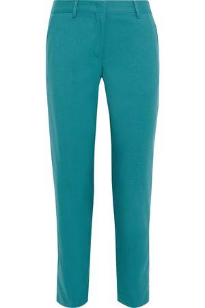 PAUL SMITH Woman Wool-twill Slim-leg Pants Teal Size 38