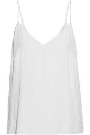LISE CHARMEL Woman Art Et Volupté Lace-paneled Crepe De Chine Camisole Ivory Size 38