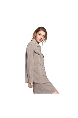 Riani Houndstooth Front Pocket Overshirt 8, Colour: