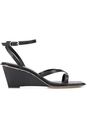 3.1 Phillip Lim Women Wedge Sandals - Strap-detail wedge-heel sandals