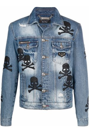 Philipp Plein Skull patch denim jacket