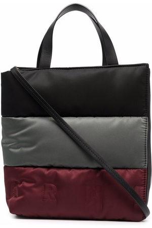 Marni Colour-block puffer tote bag
