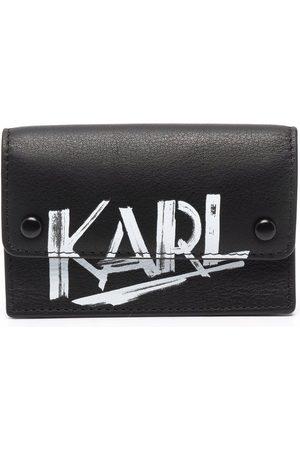 Karl Lagerfeld Logo-print leather wallet