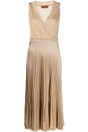 Missoni Pleated-skirt knitted dress