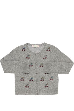 BONPOINT Girls Cardigans - Intarsia Cashmere Knit Cardigan