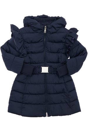 MONNALISA Hooded Nylon Puffer Coat