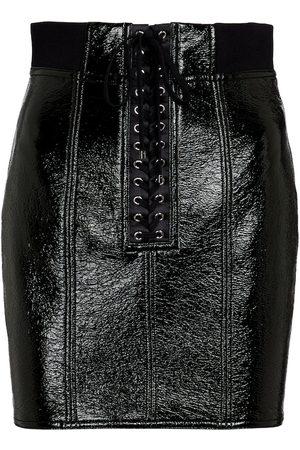 Dolce & Gabbana Coated cotton and silk miniskirt