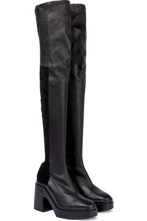 Robert Clergerie Women High Leg Boots - Naelle leather over-the-knee boots