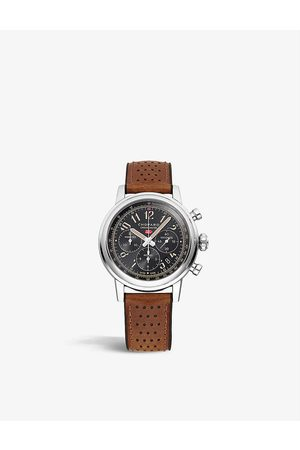 Chopard 168589-3034 Mille Miglia stainless-steel and leather automatic watch