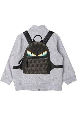 Fendi Kids Zip Top With 3D Backpack Print, / 4 YEARS