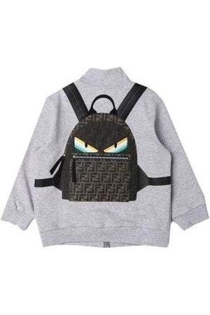 Fendi Kids Zip Top With 3D Backpack Print, / 8 YEARS