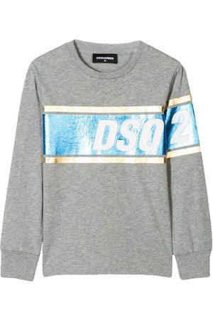 Dsquared2 Kids Foil DSQ2 Print Long Sleeve T-Shirt , / 12 YEARS