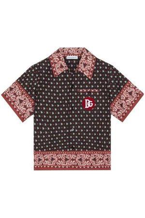 Dolce & Gabbana Kids Bandana Print Shirt Red & , / 12 YEARS