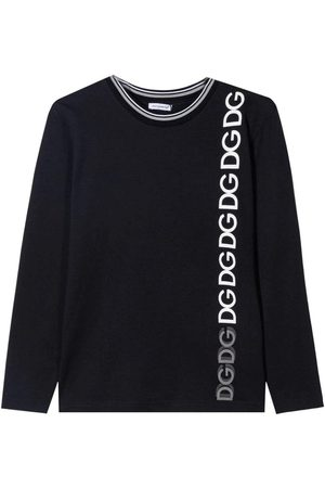 Dolce & Gabbana Kids Long Sleeve T-Shirt Black, NAVY / 10 YEARS