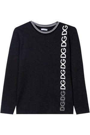 Dolce & Gabbana Kids Long Sleeve T-Shirt Black, NAVY / 12 YEARS