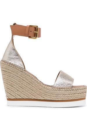 See by Chloé Women Wedge Sandals - Splash wedge espradille sandals