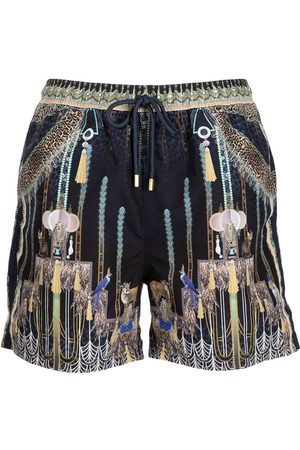 Camilla Dripping in Deco graphic-print shorts