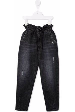 Dondup Girls Straight - Paperbag-waist straight jeans
