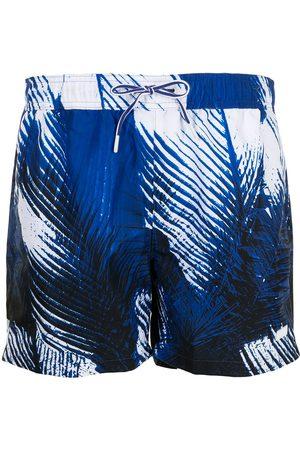 BOSS Feather print swim trunks