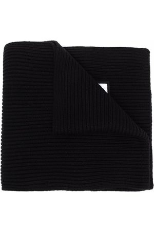 Dsquared2 Kids Ribbed-knit embroidered-logo scarf
