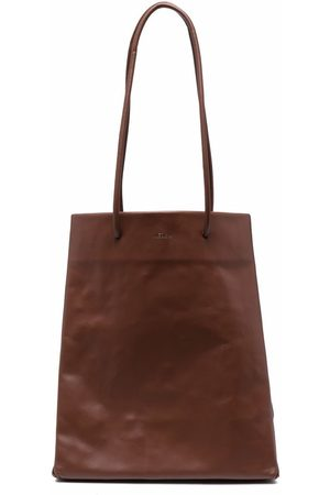 Medea Busted Tall leather tote bag