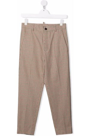 Dsquared2 Kids TEEN check-print tailored trousers - Neutrals