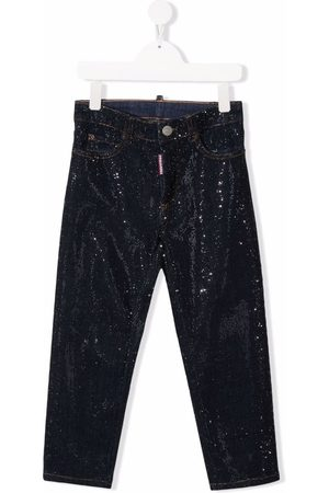 Dsquared2 Kids Mid-rise straight-leg jeans