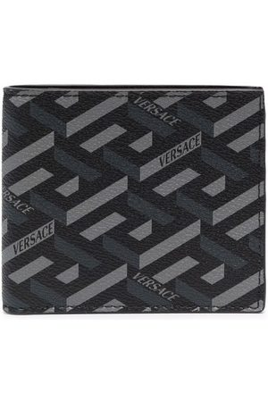 Versace Men Purses & Wallets - Greca-print bi-fold wallet