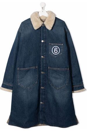 MM6 KIDS Boys Denim Jackets - Embroidered-logo denim jacket