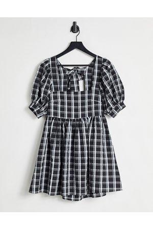 Bolongaro Trevor Greta mini smock dress in gingham-Multi