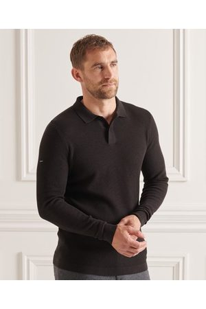 Superdry Studios Long Sleeve Knitted Polo Shirt