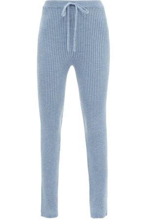 MARQUES'ALMEIDA Rib-knitted Merino Wool Slim-leg Trousers - Womens