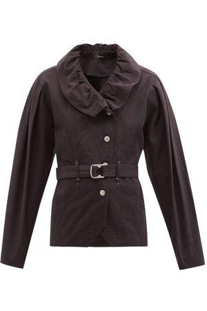 Isabel Marant Dipazo Flounced Belted Denim Jacket - Womens