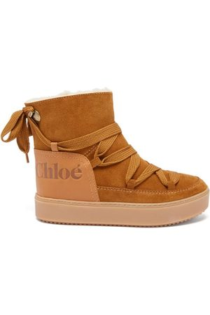 See by Chloé Charlee Shearling-lined Suede Snow Boots - Womens - Tan