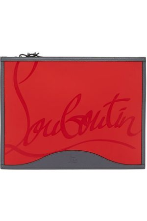 Christian Louboutin Men Suitcases - Pifpouch Logo-debossed Leather Zip Pouch - Mens