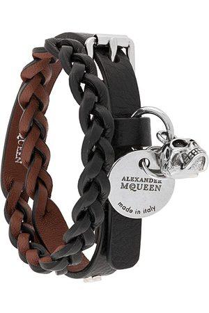 Alexander McQueen Men Bracelets - Braided double cuff