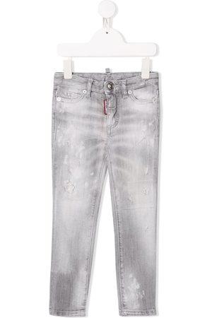 Dsquared2 Girls Straight - Straight leg distressed denim jeans