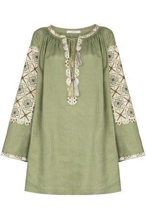 VITA KIN XOXO embroidered wide-sleeve dress