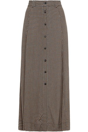 Ganni Woman Printed Crepe Midi Skirt Size 32