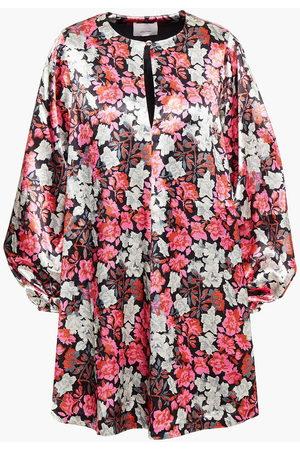 CINQ À SEPT Woman Floral-print Satin Mini Dress Size L