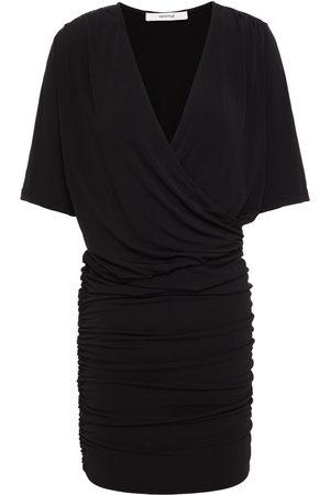 GESTUZ Women Casual Dresses - Woman Wrap-effect Ruched Jersey Dress Size L