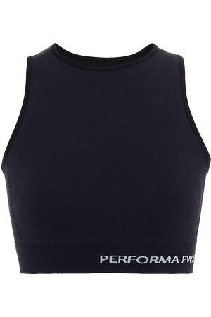 RICK OWENS Women Sports Bras - Woman Jacquard-trimmed Stretch Sports Bra Size L