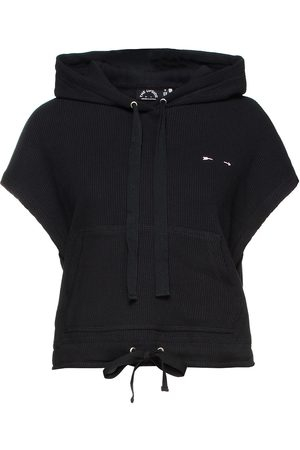 The Upside Woman Ribbed Cotton-jersey Hoodie Size L