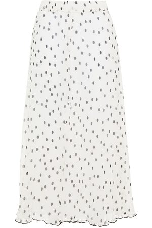 Ganni Women Midi Skirts - Woman Floral-print Plissé-georgette Midi Skirt Size 32